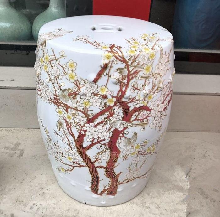 plum blossom garden sgabello di porcellana jingdezhen tamburo toilette doccia sgabello bagno sgabello sgabello per toletta di ce