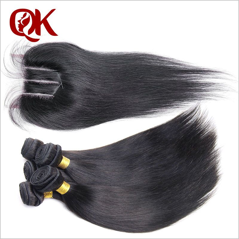 Peruvian virgin hair Straight with closure Queen King Hair Products human Hair With Closure Peruvian3 Bundles With Lace Closure