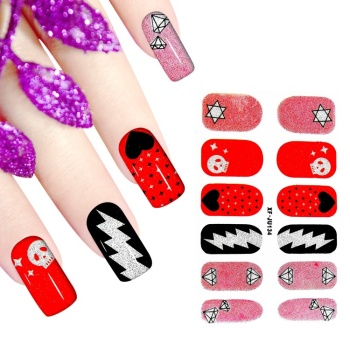 Wholesale Excellent Adhesive Nail Polish Post Full Wrap XF Serial Manicure Nail Sticker Art Patch 200pcs Free EMS/DHL Shipping