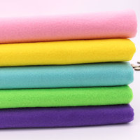 Pure Color Soft Felt Fabric 100 Colors To Choose Polyester Nonwoven Fabrics Needlework Diy Needle Sewing