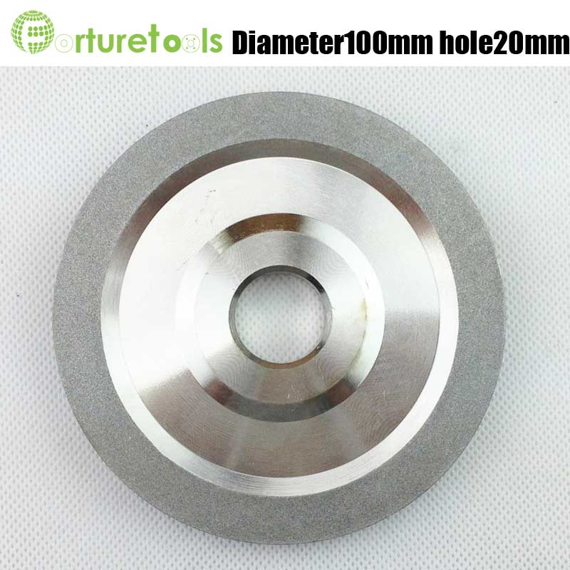 1A1 flat shape diamond coated abrasive wheel grinding disc for tungsten carbide tools D100 hole 20mm grit 80~600# E006 high quality single bevel phx resin grinding wheel diamond 100mm wheel abrasive disc for saw blade grinding disc rotary tools