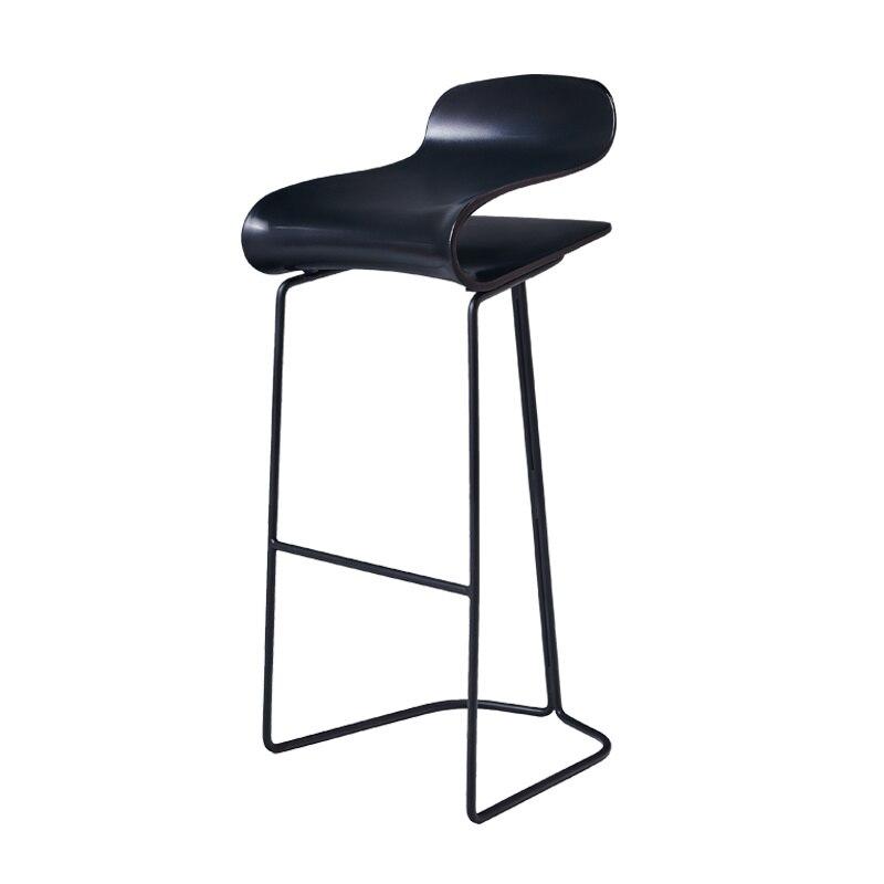 H 14%Modern Minimalist Bar Chair European Wrought Iron Bar Stool High Stool Bar Chair Front Bar Stool