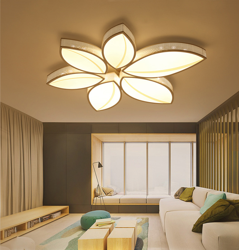 feuilles plafond lumi re moderne surface mont led. Black Bedroom Furniture Sets. Home Design Ideas