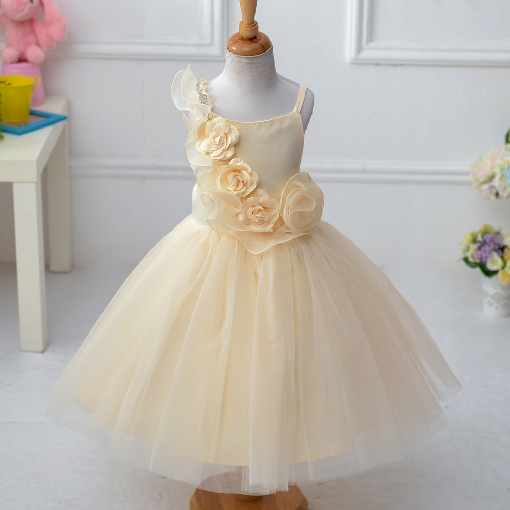 ФОТО New Free Shipping Flower Girls Dresses For Wedding Gowns Long  Kids Prom Dresses A-Line  Pageant Dresses for Little Girls