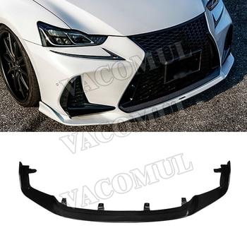 Carbon Fiber Front Bumper Lip Spoiler Protector Body Kits for LEXUS IS300 IS350 IS F Sport Sedan 4 Door 2017 2018 Car Styling front lip for lexus gs350