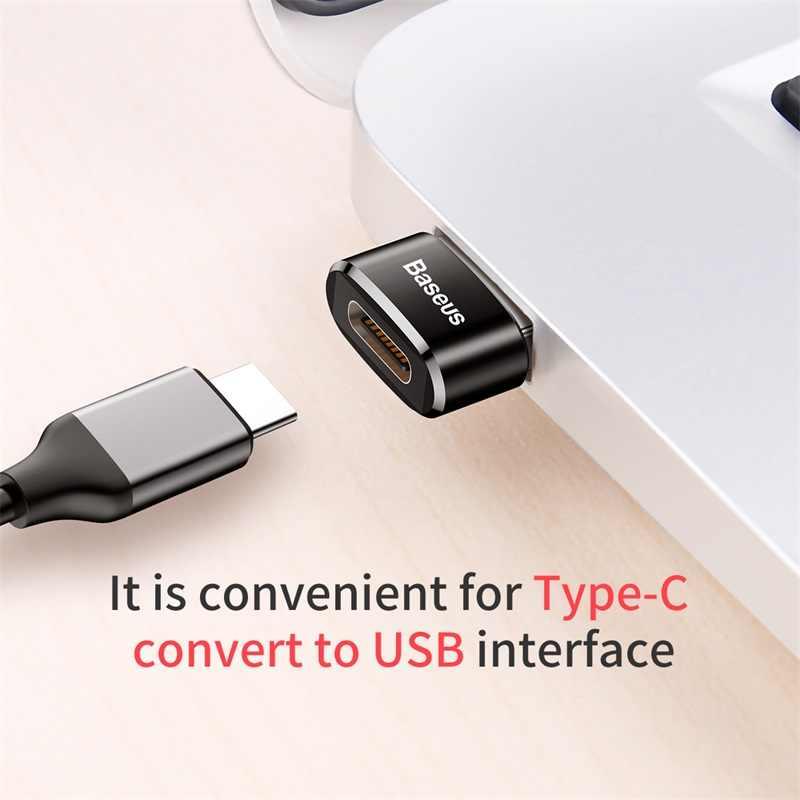 Baseus USB Type c adaptateur OTG USB c mâle à Micro USB femelle convertisseurs de câble pour Macbook Samsung S10 Huawei USB à type-c OTG