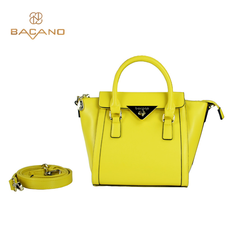 Bacano Fashion Lady Women Bags Bright Yellow Female Tze Bag Microfiber Synthetic Leather S Shoulder Bolsa Feminina In From
