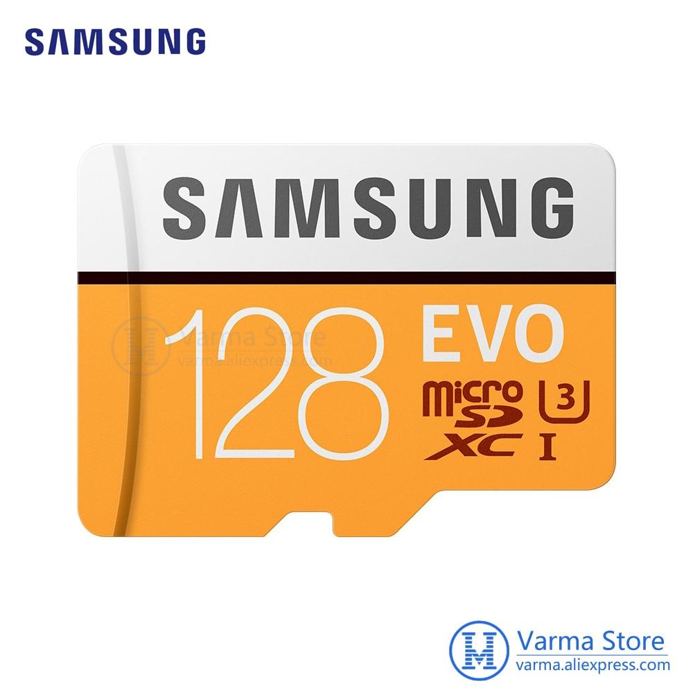 Samsung TF Card MB-MP EVO+ microSD 128GB memory card UHS-I 128GB U3 Class10 4K flash memory card microSDXC samsung microsd card 16gb 32gb 64gb 128gb 100mb s micro sd memory card tf flash card for phone class10 u3 sdhc sdxc free adapter