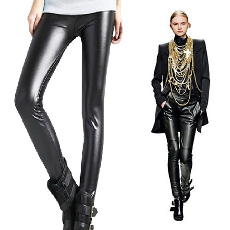 Women'S Leather Leggings Pants