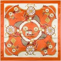 Women Imitation-silk Scarves Echarpe Trends 2016 Scarf 90 Scarf Femme Fashion Horse Carriage Pattern Neckerchief Neckwear