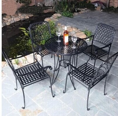 Coffee Tables And Chairs For Outdoor Patio Furniture Iron Garden Balcony Wrought Combin