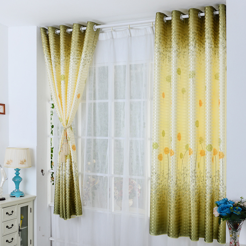 Songkaum Hot Sale High Quality Semi Shade Curtain Cloth Short Curtains Window Curtain For