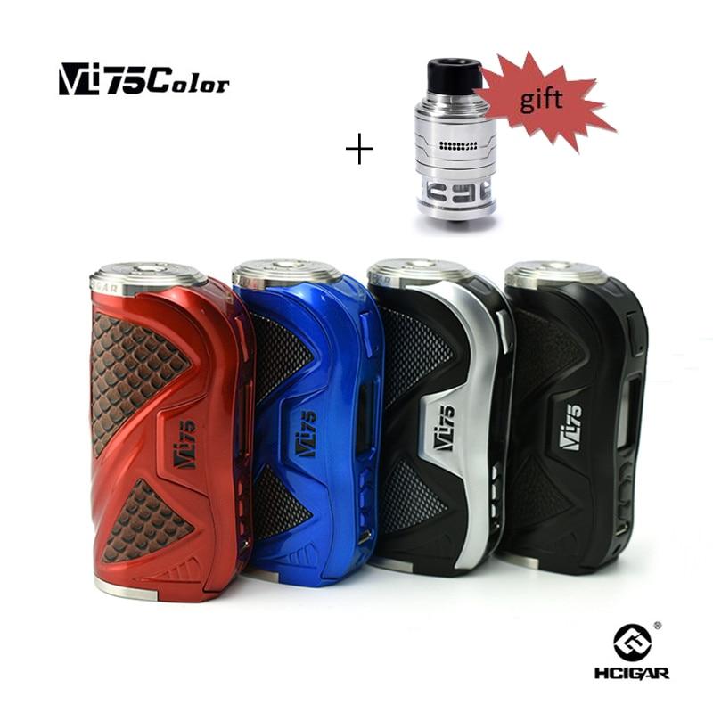 D'origine HCigar 75 w MOD VT75 écran Couleur TC e-cigarettes VT75C Boîte mod de vape de boîte avec le plus récent Evolv DNA75 Couleur puce