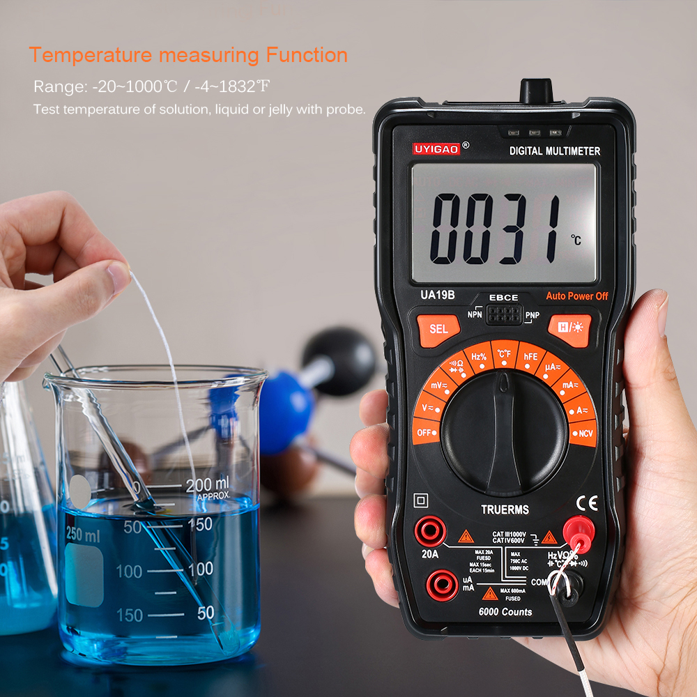 Digital LCD Multimeter Voltmeter Ammeter Auto Range Handheld Multi Meter AC/DC Resistance Capacitance Transistor Tester free shipping multimeter 830l handheld digital universal table with multi meter multimeter