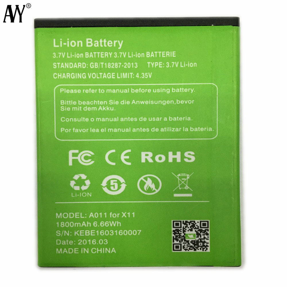 AVY Battery for XGODY X11 1800mAh Mobile Phone Replacement Batteries Bateria 100% Tested In stock+Tracking Number