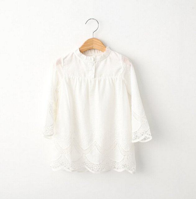 eb403446206d New Kids Baby White Cotton Lace Tulle Blouse