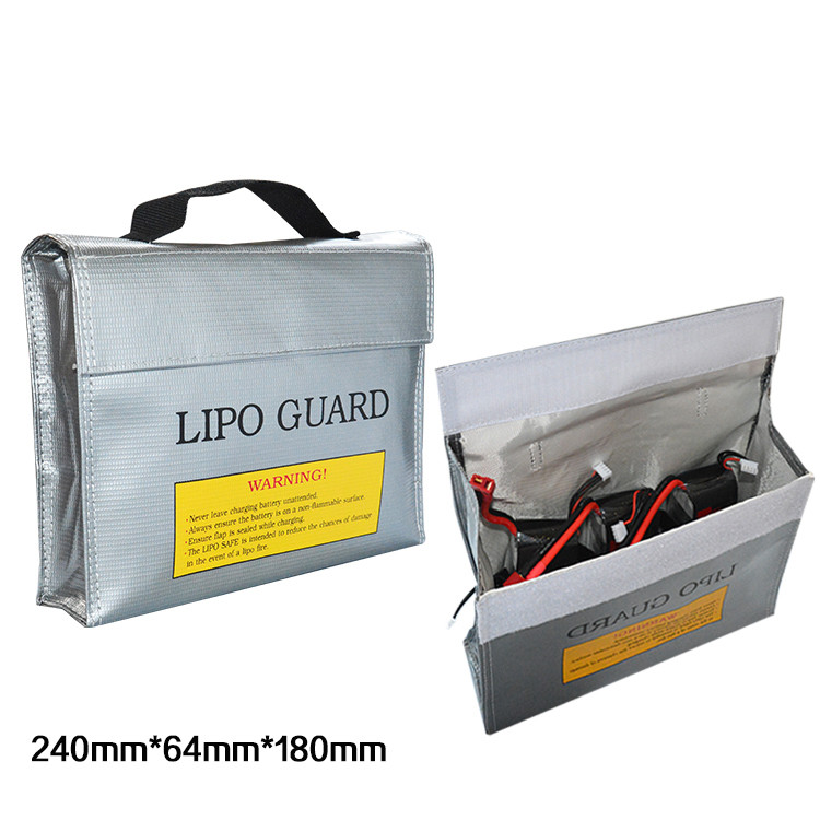 240*64*180MM LiPo Li-Po Battery Fireproof Safety Guard Safe Bag childreds toys learning tools