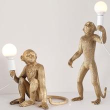 Nordic Creative Monkey Lamp Table Lights Luminaire Industrial Lighting Hemp Rope Vintage Chandelier Lampadario Moderno Fixtures