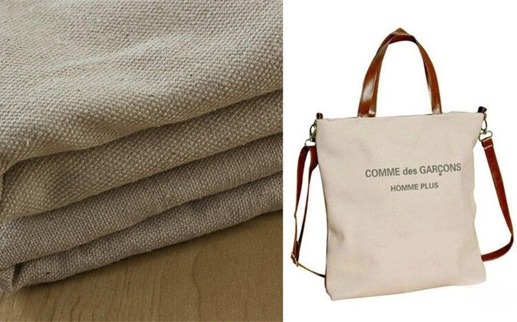 330 340GSM 150CM 100% Cotton Canvas fabric nature color for mat ...