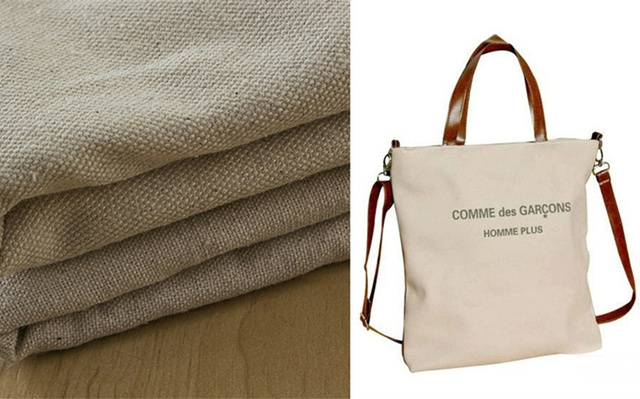330 340GSM 150CM 100% Cotton Canvas fabric nature color for mat ...