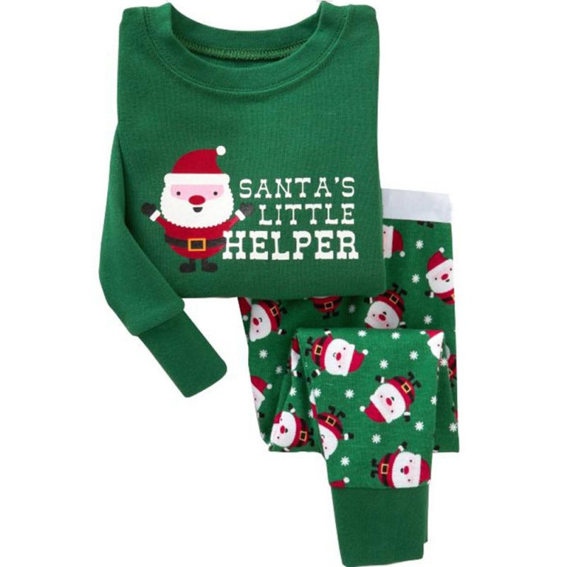 kids childrens printing Christmas boy girl sleepwear nightwear For Gift