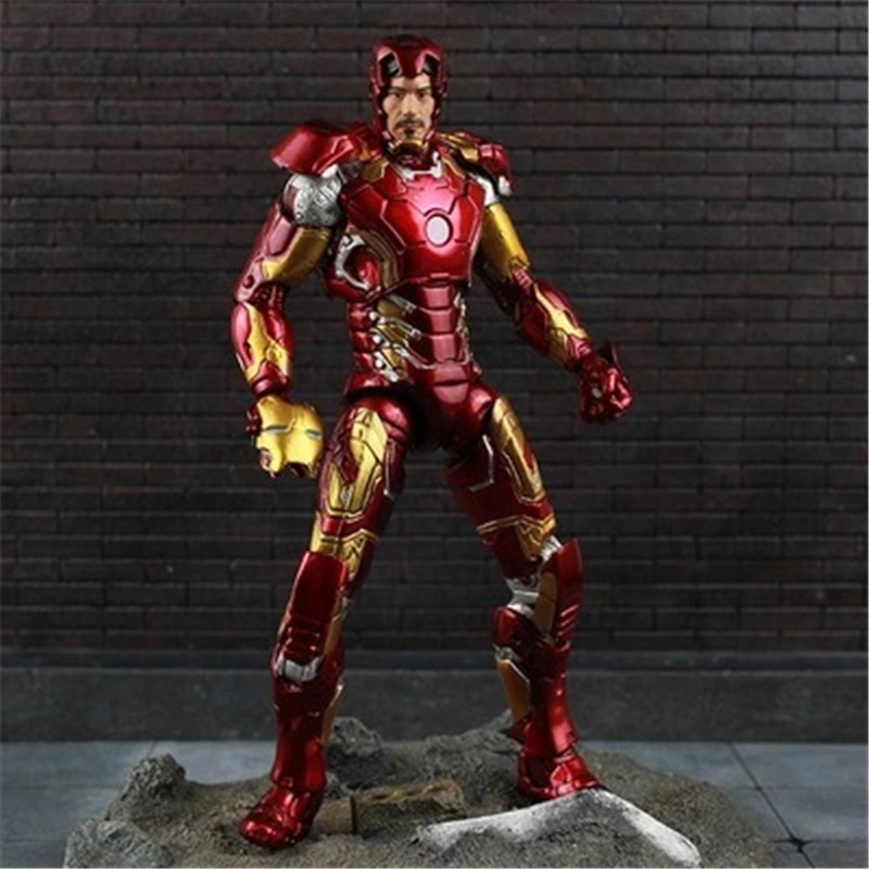 Image 3 - New Hot TheAvengers IronMan Action Figure Model 18 20cm MK42 MK43 Iron Man Doll PVC ACGN figure Toy Brinquedos Anime kids Toys-in Action & Toy Figures from Toys & Hobbies