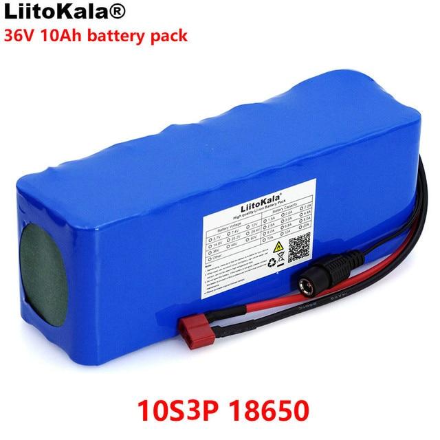 LiitoKala 36V 10000mAh 500W גבוהה כוח קיבולת 18650 ליתיום סוללה אופנוע חשמלי רכב אופניים קטנוע עם BMS
