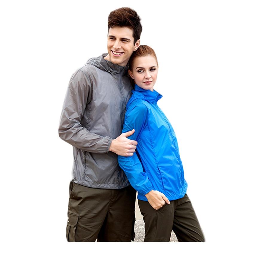 Tectop hombres mujeres protección uv de secado rápido senderismo chaqueta imperm