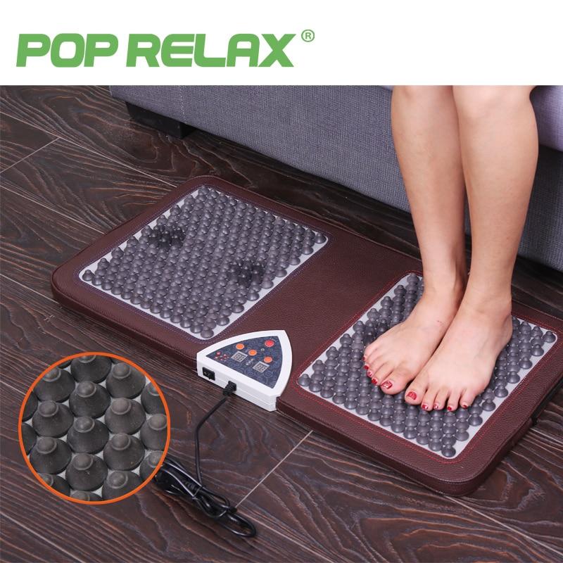 POP RELAX NUGA BEST NM55 tourmaline germanium foot arch acupuncture massage mat second heart electric heating foot massager F01B pop relax sauna foot heat therapy king bucket tourmaline massager pr f01d
