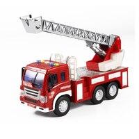 Fireman Sam Toy Car Model Small Music Lights Fire Truck Life Saving Lada Samara Kids Toy