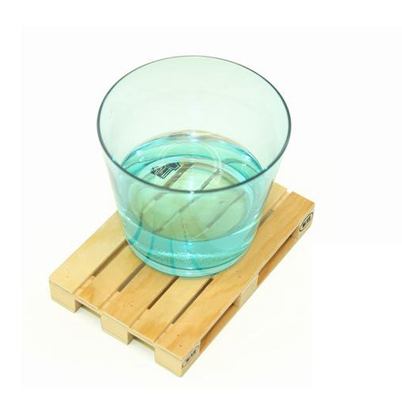 Table Kitchen Miniature Pallet Wood Beverage Coasters Wine Drink Glasses Beer Bottle Whiskey Glass Cup Mat