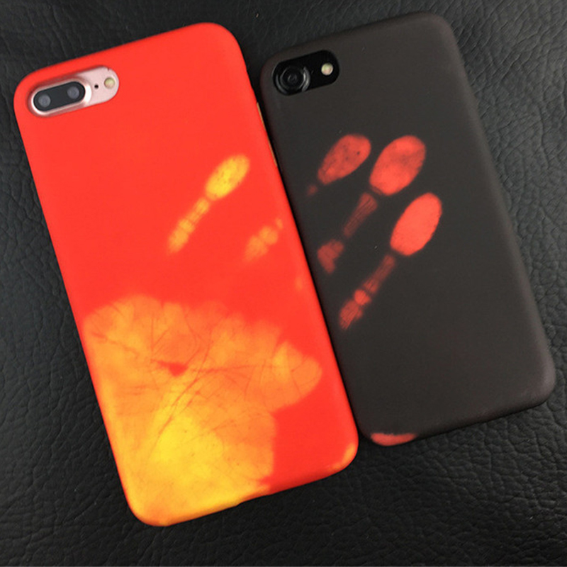 Super cool Color Change Phone Case for iPhone 6 6S 7 plus Back Cover Heat Thermal discoloration