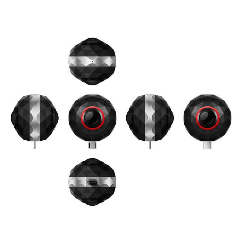 3K HD mini 360 VR camera live Panoramic portable pocket Dual Lens Ikeacasa Free Shipping