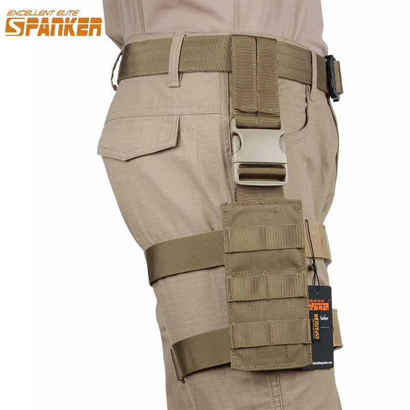 EXCELLENT ELITE SPANKER Outdoor Hunting Mini Legs Hanging Plate Tactical Training Camo Molle Legs Hanging Military Equipment