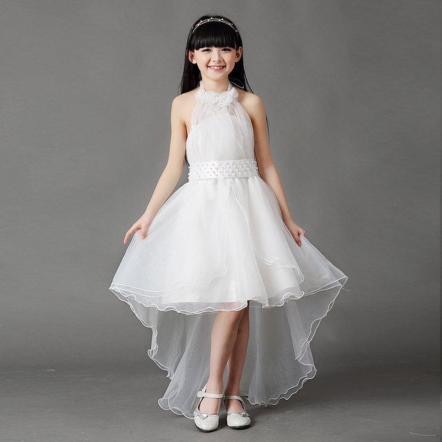 3 16y Kids Gauze Pearl Tee Dresses For Age S Children Party Wedding Dress Clothing