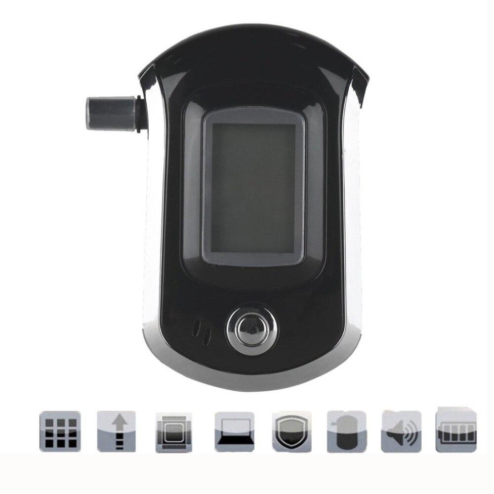 AT6000 Digital Alcohol Tester High Sensitivity Breath Alcohol Alarm Tester Detector LCD Breathalyzer Analyzer With 5 Mouthpiece все цены