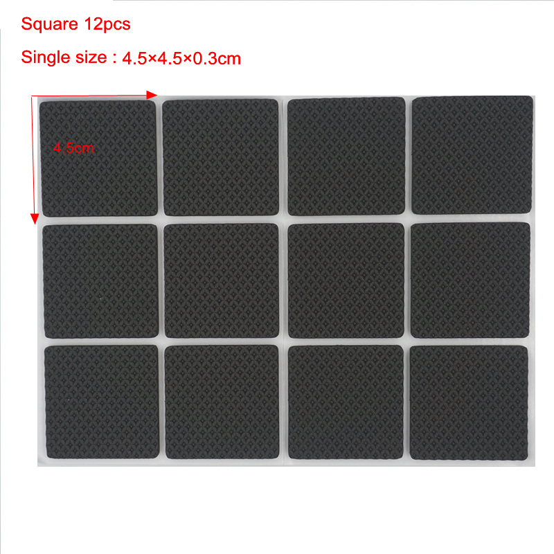 Anti Slip Furniture Leg Feet Non Slip Rug Felt Pads Self Adhesive Mat Soft Close Fittings For Chair Table