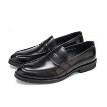 Grande tamanho EUR45 preto Apontou sapatos dedo do pé sapatas de vestido dos homens sapatos de casamento genuíno sapatos de escritório de couro dos homens sapatos de negócios