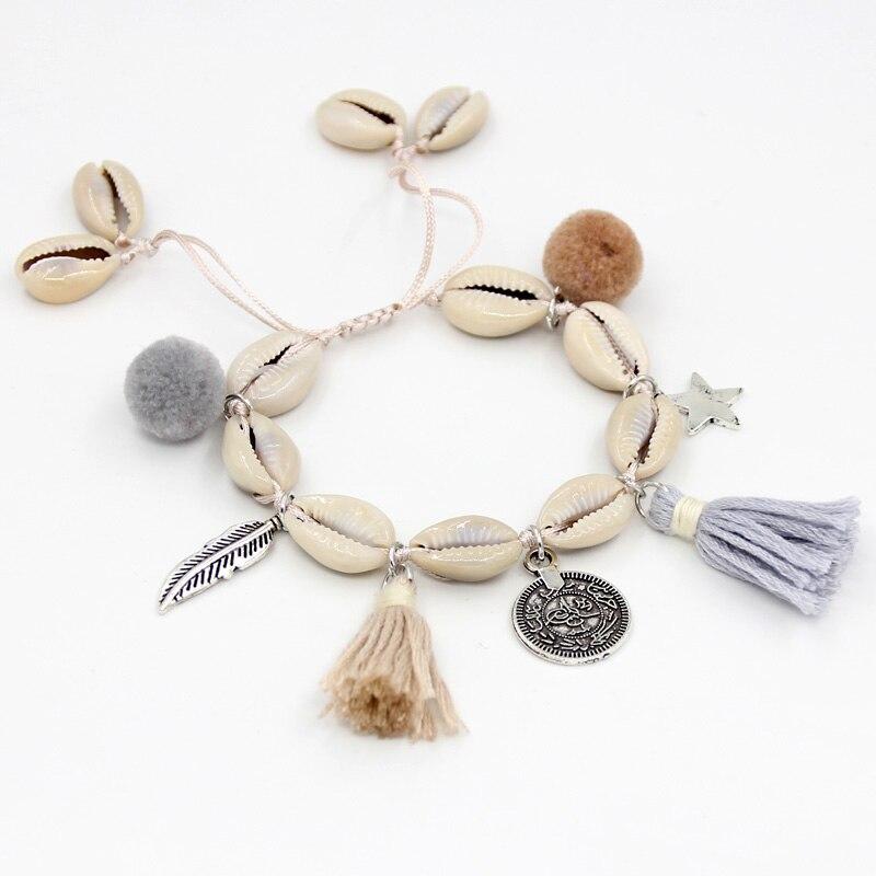 Women Bracelet Fashion Handmade Tassel Accessories Female Summer Beach Jewelry Shell Strand Bracelets