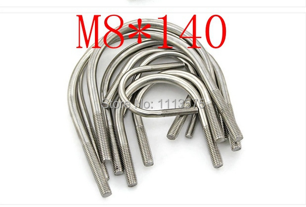 M8*140,304 321 316 stainless steel U bolt,bolt and nut,climp coupling nuts and bolts fasterner  hardware