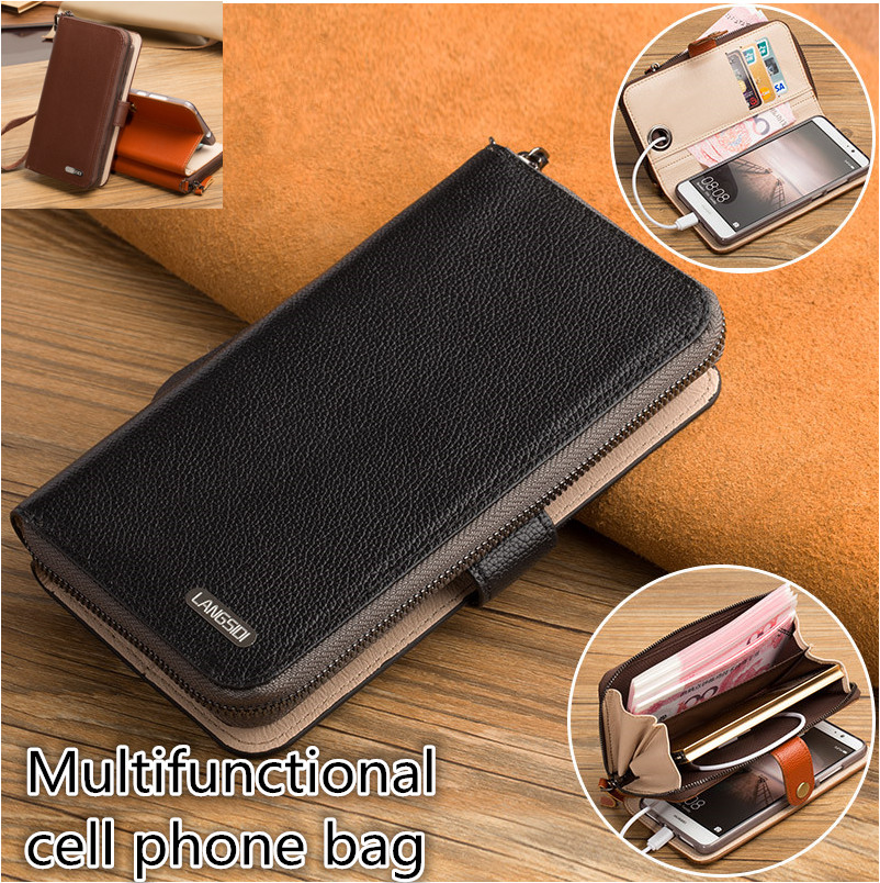 LJ06 Genuine Leather Wallet Phone Case For Motorola Moto Z2 Play Card Holder Flip Stand Mobile
