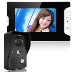 Timbre intercomunicador Visual 7 ''TFT LCD con cable de vídeo sistema de teléfono interior Monitor 700TVL exterior IR Cámara soporte desbloqueo