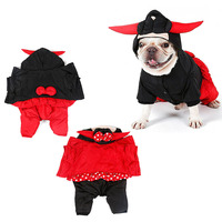 Halloween Christmas Polyester Pet Warm Bull Jumpsuit With Bull Horns And Four Legs Bull Queen Dog
