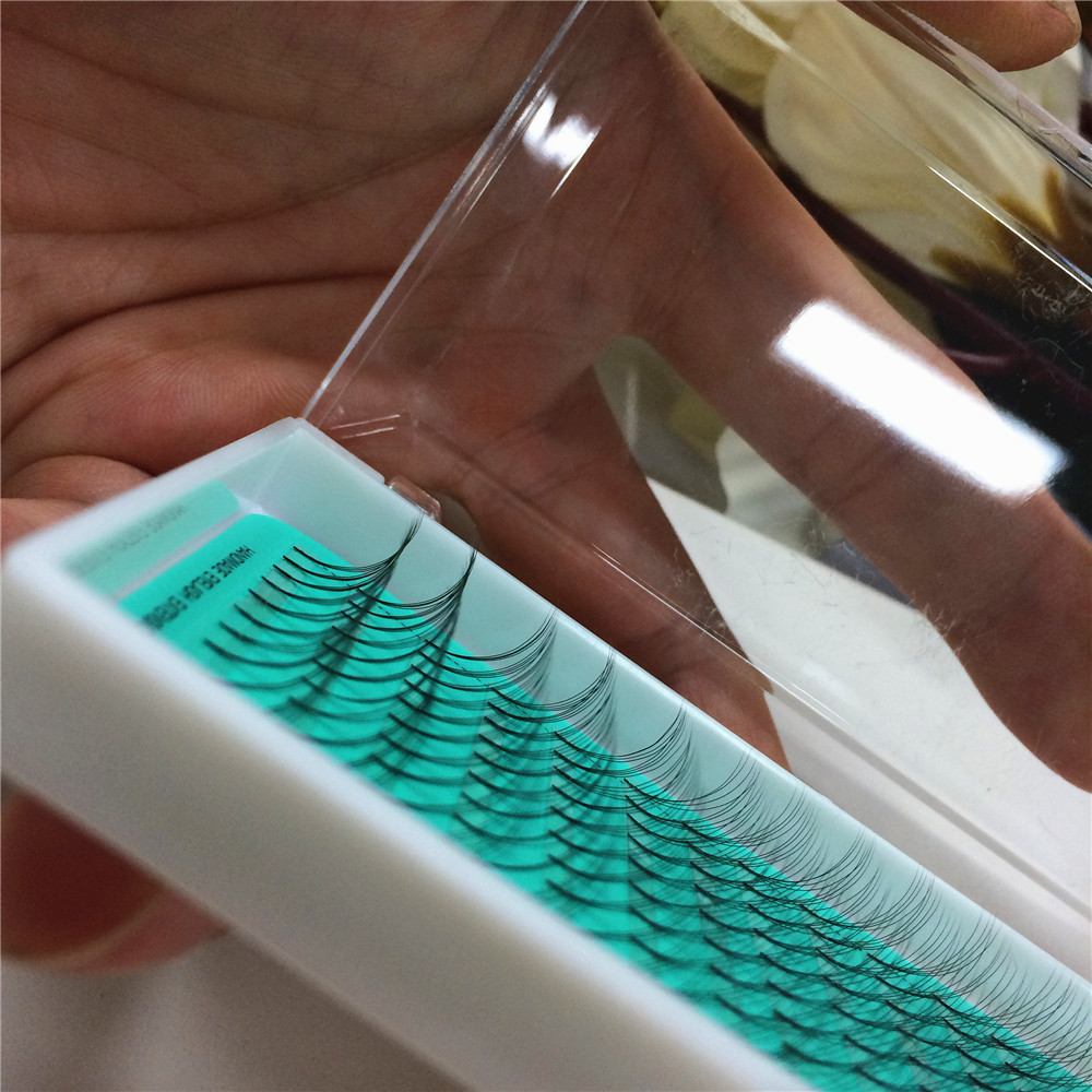 4D 1 Tray Russian Volume Eyelashes Extension Hot Sale Wholesale Price Pre Made Fanned Eyelashes Natural Long Lash Free Shipping