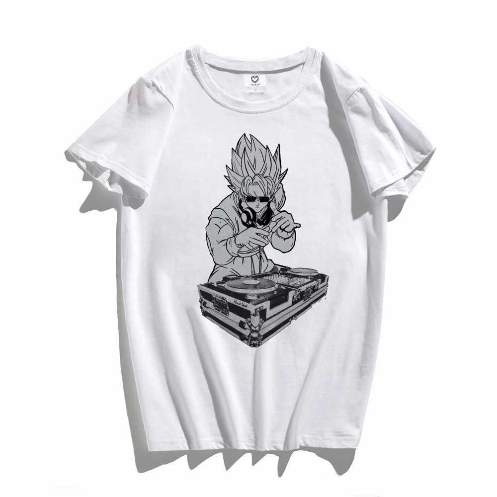 2018 новый дизайн прохладный DJ Гоку короткий рукав Для Мужчин's Забавные футболки модные футболки с рисунком аниме принтом блузка из хипстера Q036