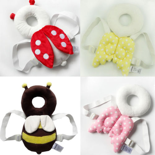 Cute Toddler Infant Kid Baby Head Back Protector Safety Pad Harness Headgear Nursing Drop Resistance Wing Protection Neck Pillow