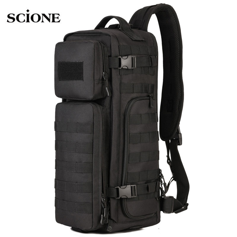 Men Chest Sling Backpack Men's Bags One Single Shoulder Man Large Travel Military Backpacks Molle Bags Outdoors Rucksack XA495WA meiyashidun men backpack casual chest bag multifunctional molle military backpack shoulder bags travel bagpack school rucksack