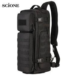 Men Chest Sling Backpack Men's Bags One Single Shoulder Man Large Travel Military Backpacks Molle Bags Outdoors Rucksack XA495WA