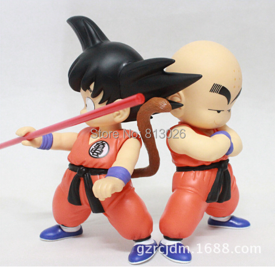 2pcs/set Dragon Ball Z Goku Kuririn Action Figure PVC Collection figures toys for christmas gift brinquedos 2pcs lot 18cm 7 inch height japan anime dragon ball z goku kuririn pvc action figure dragonball in box