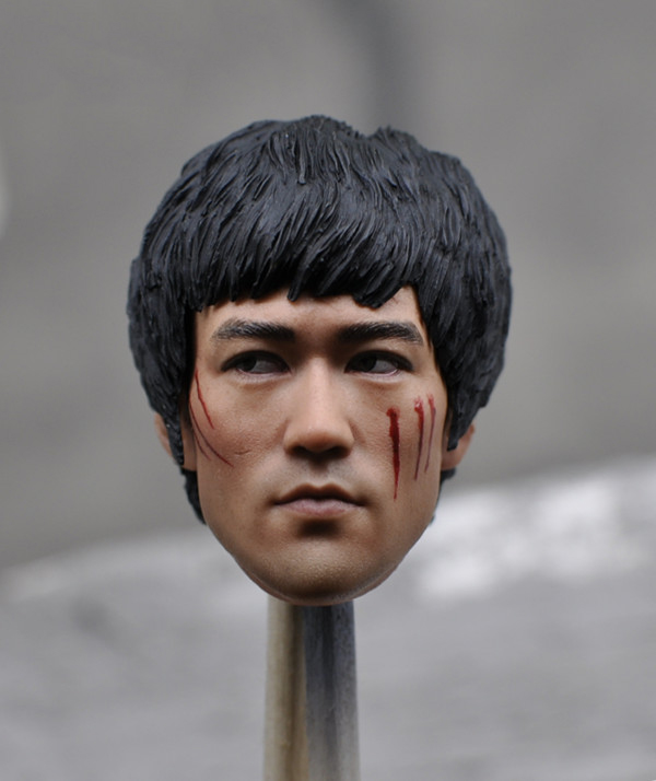 1/6 Scale Bruce Lee Head Sculpt Asian Kung fu Star Head carving Collections for 12 inches Male Body figure 1 6 male head sculpt old logan head carving for 12 muscular body figure collections